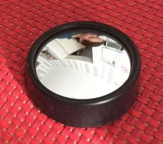 Tank-Rück-Spiegel, rund, Schwarz