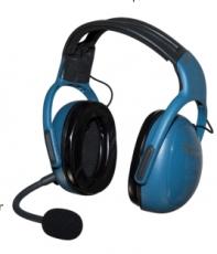UL-100, UL Intercom Headset 3 Achser ,blau MM001-BLUE