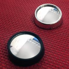 Tank-Rück-Spiegel, rund, Silber