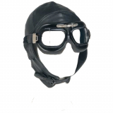 Flieger Brille old school in chrom / silber oder schwarz