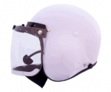 Integral Helmet, , Visor & Neoprene Chin Guard  with built in Fl