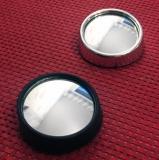 gasoline-mirror, rund, silver
